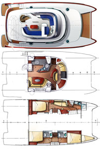 Fountaine-pajot Cumberland 44 Layout 1