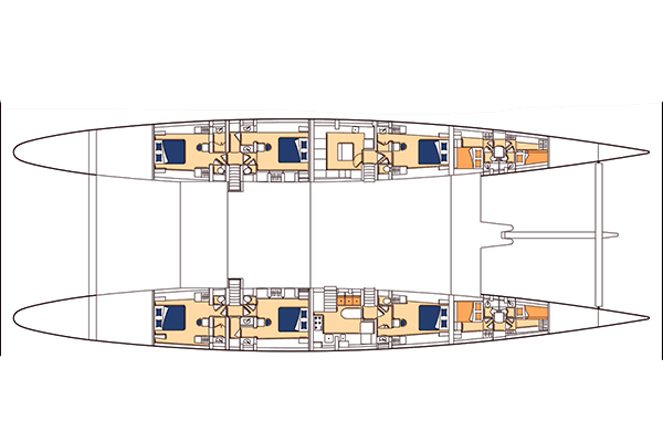 Alu-marine Catamaran 42m Layout 1