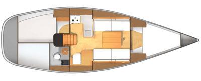Dufour-yachts Dufour 34 Layout 1