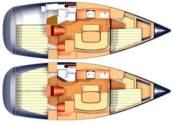 Dufour-yachts Dufour 365 Layout 1