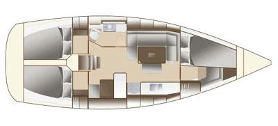 Dufour-yachts Dufour 375 Layout 1