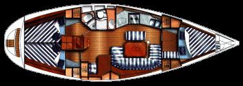 Dufour-yachts Dufour 38 Layout 1