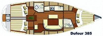 Dufour-yachts Dufour 385 Layout 1