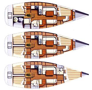 Dufour-yachts Dufour 40 Layout 1