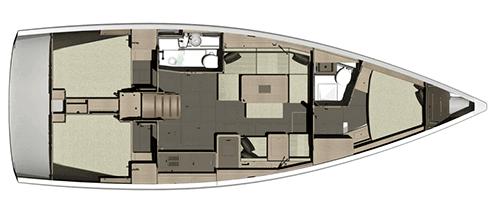 Dufour-yachts Dufour 410 Layout 1
