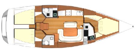Dufour-yachts Dufour 425 Layout 1
