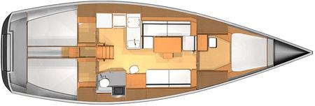 Dufour-yachts Dufour 40e Layout 1