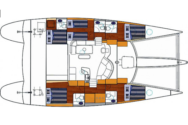 Fountaine-pajot Eleuthera 60 Layout 1