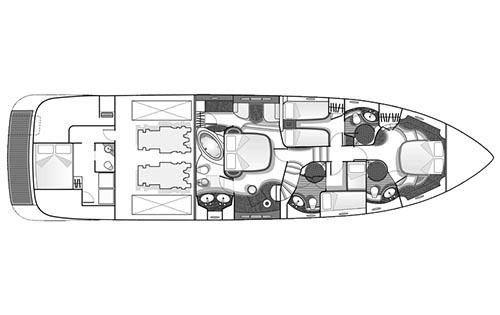 Azimut-yachts Fly 68evo Layout 1