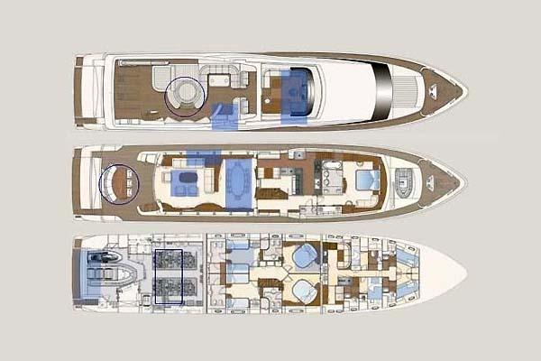Ferretti Yacht 34m Layout 1