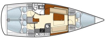 Hanse-yachts Hanse 355 Layout 1