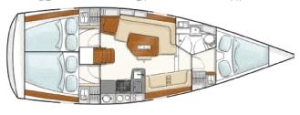 Hanse-yachts Hanse 350 Layout 1