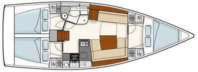 Hanse-yachts Hanse 385 Layout 1