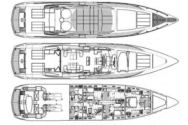 Baglietto Yacht 105 Layout 1