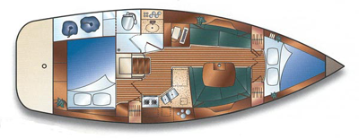 Hunter-yachts Hunter 36 Layout 1