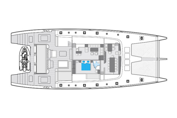 Sunreef-catamaran Sail 102 Layout 2