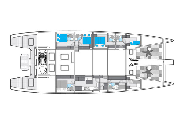 Sunreef-catamaran Sail 102 Layout 1
