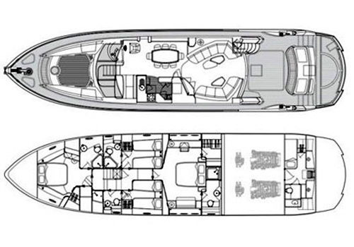 Sunseeker Yacht 75 Layout 1