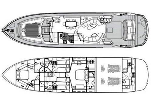 Sunseeker Yacht 75 Layout 1
