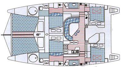 Knysna-catamaran Knysna 440 Layout 1