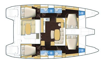 Lagoon-catamaran Lagoon 421 Layout 1