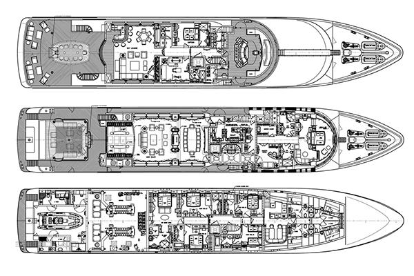 Trinity Yacht 58m Layout 1