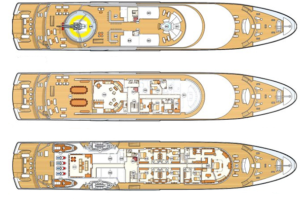 Neorion Yacht 85m Layout 1