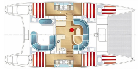 Nautitech-catamaran Nautitech 442 Layout 1