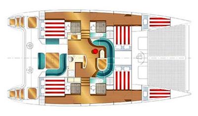 Nautitech-catamaran Nautitech 47 Layout 1