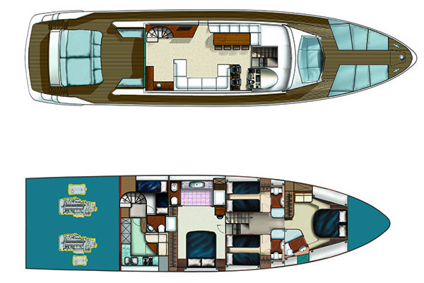 Numarine-yachts Hardtop 78 Layout 1