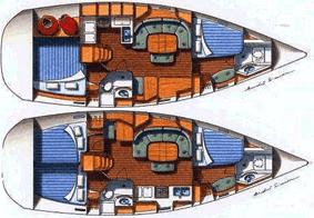 Beneteau Oceanis 393 Layout 1