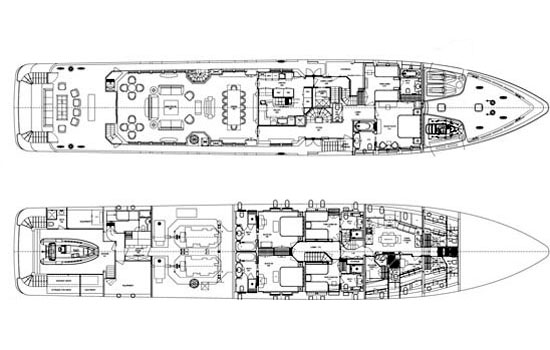 Mondomarine Yacht 49m Layout 2