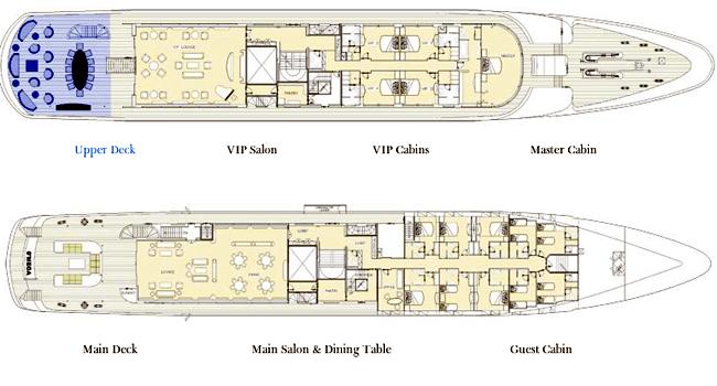 Mitsubishi Yacht 82m Layout 1