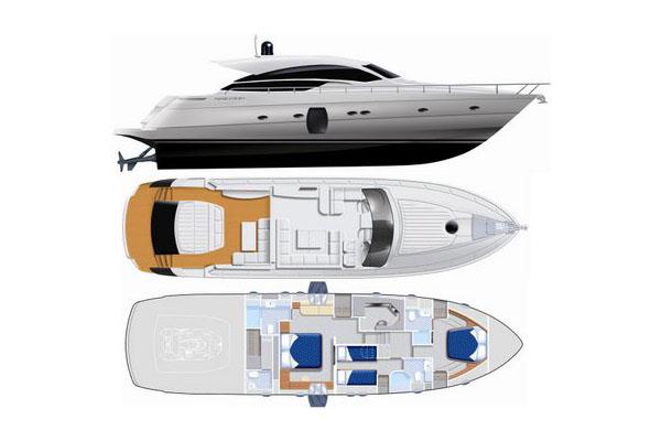 Pershing-yachts Pershing 64 Layout 1