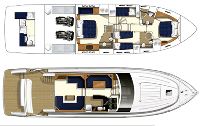 Princess-yachts Princessp 62 Layout 1