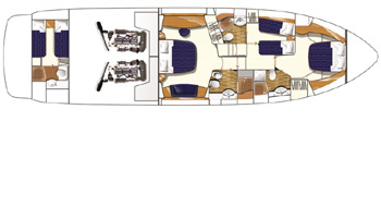 Princess-yachts Princessp 67 Layout 2