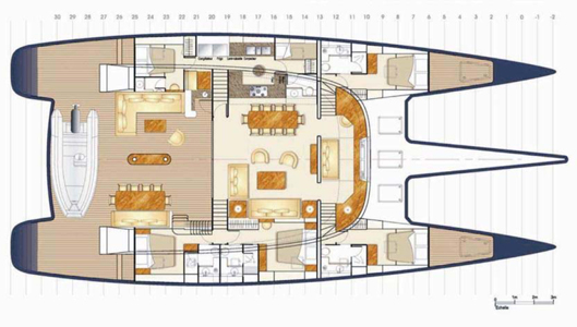 Blubay Catamaran 92 Layout 1