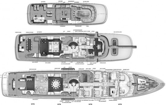 Viareggio Yacht 62m Layout 1