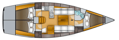 Salona-yachts Salona 38 Layout 1