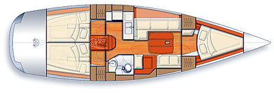 Salona-yachts Salona 42 Layout 1