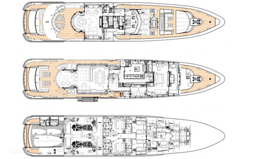 Heesen Yacht 44m Layout 1