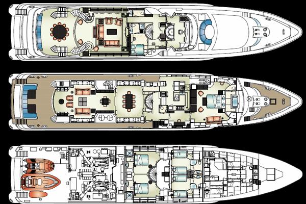 Heesen Yacht 46m Layout 1