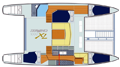 Seawind-catamaran Seawind 1000xl Layout 1