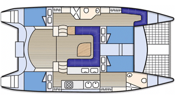 Seawind-catamaran Seawind 1250 Layout 1