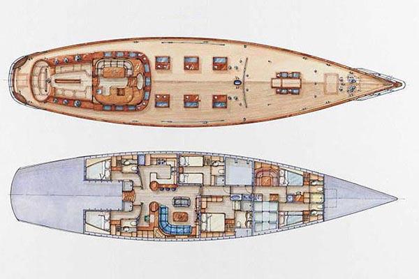 Jachtwerf-klaassen Sloop 33m Layout 1