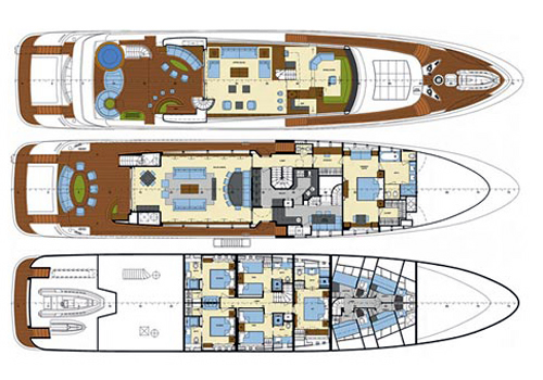Mondomarine Yacht 41m Layout 1