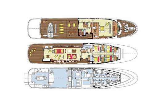 Mondomarine Yacht 50m Layout 1