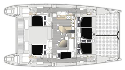 Voyage-catamaran Voyage 520 Layout 1