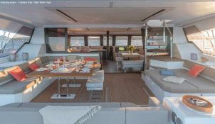 BLACK CAT  Fountaine Pajot Victoria 67' Interior 7
