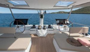 BLACK CAT  Fountaine Pajot Victoria 67' Interior 9